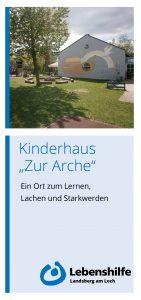 """Bild Flyer Kidnerhaus """"zur Arche"""""""